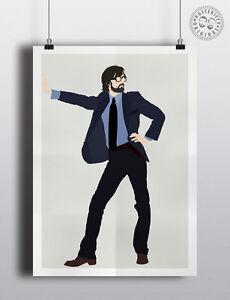 JARVIS COCKER Minimalist Music Poster Posteritty Minimal PULP Print Sheffield