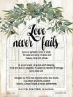 Art Print, Framed or Plaque by Cindy Jacobs - Love Never Fails - CIN1689