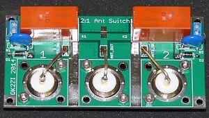 2:1 Kurzwellen Antenne Schalter Bausatz fuer N-Stecker oder SO-239