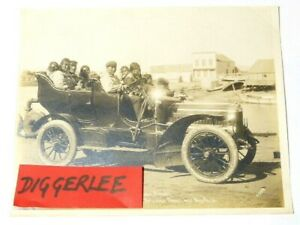 "1905 The THOMAS FLYER Famous Frank Nowell ORIGINAL Sepia Photograph 10x8"" #4098"