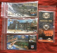 (4) Inaugural Pacific Bell Park San Francisco Giants Baseball Pins: Year (2000)