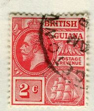 BRITISH GUIANA;  1913-21 early GV issue fine used 2c. value
