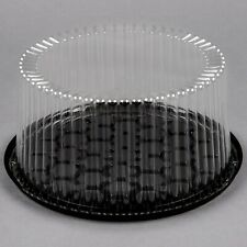 """(80-Pack) 9"""" 2-3 Layer Disposable Cake Display Container with Clear Dome Lid"""