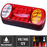 12V Caravan Truck Trailer Tail Light LED Indicator Rear Stop Brake Reverse Lamp