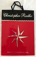 "New Christopher Radko Gift Storage Bag for Ornaments 12 x 9 x 4.5"" Red Unused"