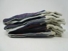 Lot Of 6 Boss Canvas And Split Leather Palm Glove 1jl0036