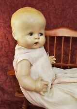 VTG 1930s Composition/Cloth Doll Unmarked Buttercup Possible Sleep Tin Eyes 17""