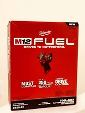 NEW IN BOX Milwaukee 2555-20 M12 FUEL Stubby 1/2 in. Impact Wrench w/Ring