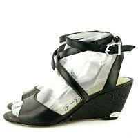 SAM EDELMAN Black Ankle Strap Wedges Sandals Shoes Size 6 Samara