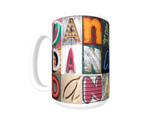 DANA Coffee Mug / Cup featuring the name in photos of actual sign letters