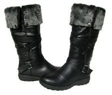 New Women's Aura47 Boots Black Winter Fur Lined Snow shoe Ladies size 8