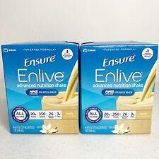 Ensure Enlive Advanced Nutrition Shake Vanilla 8 Bottles 5/20