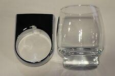 Roman Dietsche Glashalter mit Glas klar Serie Metasoft 816410 chrom