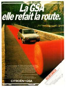 1980 CITROEN GSA Vintage Original Print AD Car on red carpet photo French