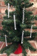 Christmas decorations, Swirls, Glass Beaded, Vintage, Set of 12