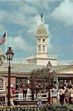 Disney World postcard Liberty Square, taking pictures at the punishment stocks