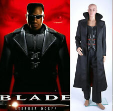 BLADE Wesley Snipes Leather Vest Coat Pants Costume Cosplay Set *Tailored*