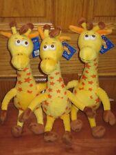 "NEW LOT of 3 Geoffrey Giraffe The Toys R Us 13"" Plush Stuffed Mascot - Geffory"