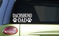 Dachshund Dad *H811* 8 inch Sticker decal weiner dog doxie