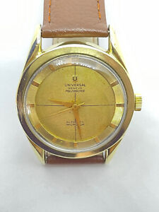 Vintage UNIVERSAL GENEVE Polerouter Automatic Cal.215 GP & SS 34mm