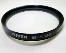 Tiffen Haze-1 UV 55mm Lens Filter Made in USA Glass