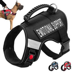 Emotionale Support Hundegeschirr ESA Service Brustgeschirr Reflektierend M L XL