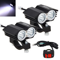 2pcs 30W Motorcycle Buggy ATV T6 LED Twin Headlight Offroad Fog Spot Lights 12V
