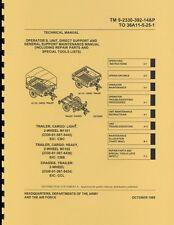 TM9 2330 392 14&P ~ M1101 trailer ~ Maint & Spare Parts Manual ~ 1995 ~ Rprint
