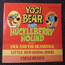 1977 Yogi Bear & Huckleberry Hound Present Jack And The Beanstalk LP VG+/VG