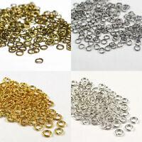 50-500PCS 4/5/6/8/10/12/14mm Loop Split Open Jump Rings Craft Jewelry Findings