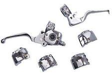 "Handlebar Control Kit 9/16"" Brake 11/16"" Clutch Chrome Convert Hydraulic Harley"