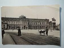 Dresden - 1899 - Sempergalerie Johann-Denkmal Reiterstandbild / Foto