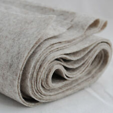 100% Wool Felt Fabric - 1mm Thick - Made in Europe - Natural Beige - 1/2m x 1.8m