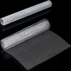 2 Sheets 1/4 Inch Wire Metal Mesh Chicken Wire Net for Craft Work 13.7 x 40 Inch