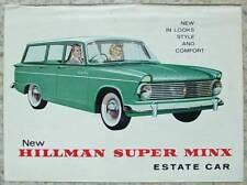 HILLMAN SUPER MINX Estate Car Sales Brochure 1963 #904/H