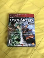 Uncharted Dual Pack (Sony PlayStation 3, 2011) PS3 CIB Complete TESTED
