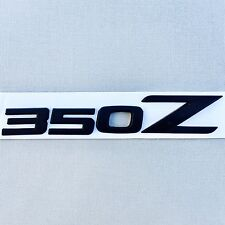 NEW NISSAN 350Z 350 Z LOGO MATTE BLACK NAMEPLATE BADGE EMBLEM ORNAMENT EM063