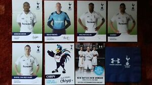TOTTENHAM (Spurs) 7 Different Cards From USA 2013 Tour
