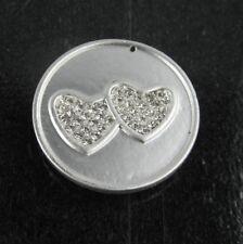4180 Magnet Brosche Doppel Herz Magnetbrosche Schalhalter Strass Tuchhalter