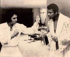 Elvis Presley and Muhammad Ali February 14, 1973 16x20 Black and White Photo