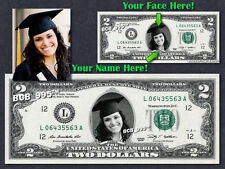 REAL $2 Dollar with Your FACE & NAME Picture Custom Personalized Cash Money Bill