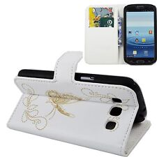 White Cover Cell Phone Leather Skin Wallet Case For Samsung Galaxy S3 III i9300
