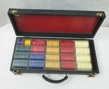 "Antique Royal Brand by Crisloid Poker Chip Set Bakelite ""Catalox"" Chips w/ Case"