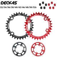104BCD 32-52T Mountain Chainring + Bolts Narrow Wide Chainwheel Bike Chain Ring