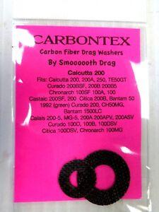 Carbontex Carbon Fiber Drag Washers SHIMANO CALCUTTA 200 CURADO CALAIS CITICA