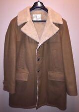 Vintage LAKELAND 60s Marlboro Man Sherpa COAT Lamb Wool Lining Amalgamated SZ 42