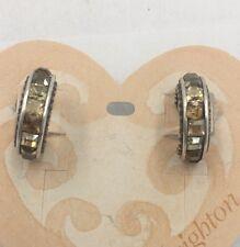 Brighton SWAROVSKI CRYSTAL HOOP  Post Earrings  NWT BR9001