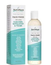 NutraNuva Face Food – Cleanser, Exfoliator & Toner All-in-One  Facial Wash, 6 Oz