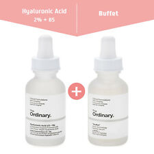 FREEShip_Set of 2 THE ORDINARY Hyaluronic Acid 2%+B5 and Buffet for SIGNS of AGE