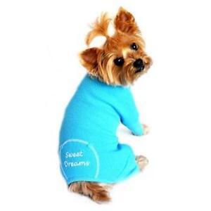 Doggie Design Thermal Sweet Dreams Dog Pajamas  Blue XS-S-M-L